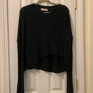 Emerald green cropped sweater